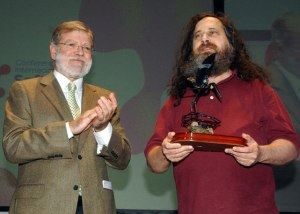 Rodríguez Ibarra y Richard Stallman