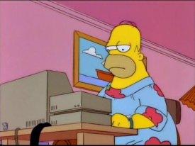 Homer en el ordenador