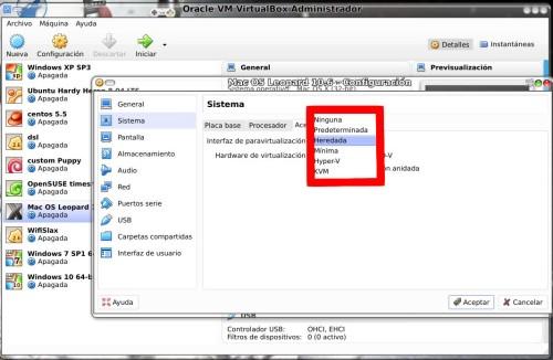 Paravirtualizadores en VirtualBox
