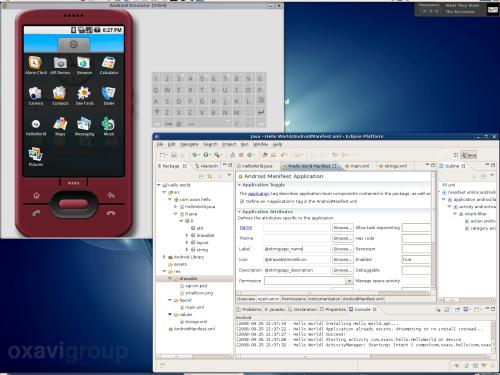 Eclipse con el emulador de Android