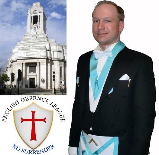 Anders Breivik, el autor de los atentados en Noruega, pretendía montar un caos copiando ideales ultraderechista islamófobos de la English Defense League. Por este extraño individuo, al que los masones confirmaron su pertenencia y condenaron por actuar en contra de los principios masónicos, no faltan las teorías conspiranoicas implicando a los masones en el terrorismo mundial. Anders Breivik parece un loco que no encontró alguna secta neonazi o se le aflojaron las tuercas tras entrar en la masonería, él mismo se montó su propia versión de los Caballeros Templarios, una desaparecida orden cristiana que ahora tiene sucesores de todos los pelajes, legales e ilegales. En España también se ataca a los masones con el ex-banquero Mario Conde, blanco fácil para las conspiraciones judeomasónicas