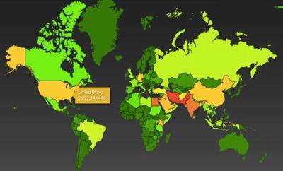 Mapa de escuchas filtrado por Edward Snowden