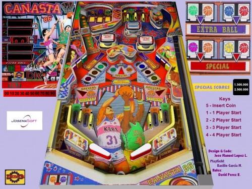 Pinball Canasta 86