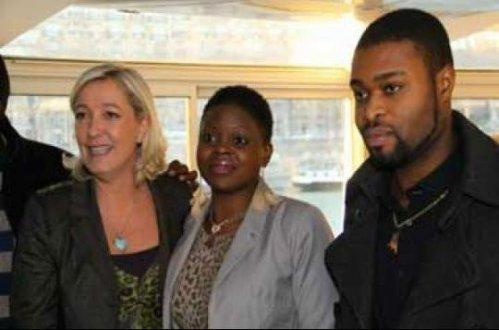Le Pen con negros