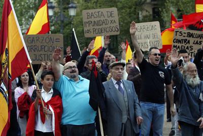 Manifestacion de fascistas