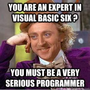 Humor típico con Visual Basic