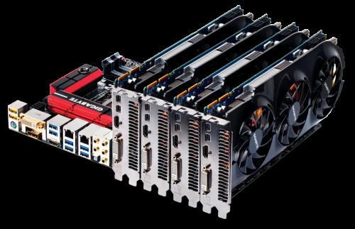 Placa base con 4 GPUs