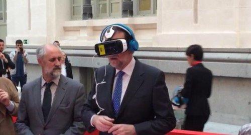 Rajoy con la Realidad Virtual