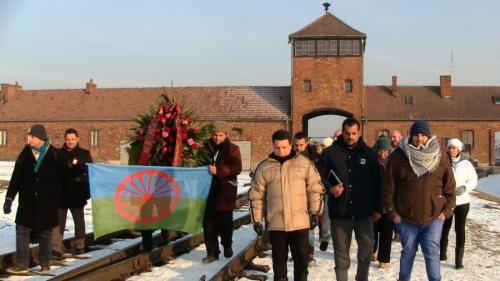 Gitanos en el campo de exterminio nazi de Auschwitz