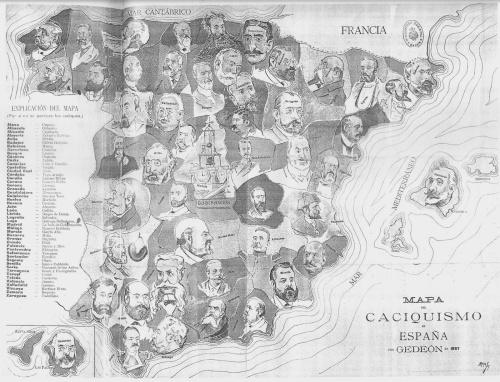 Mapa del caciquismo en España