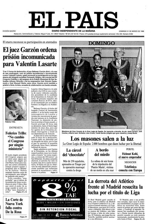 Masonería en El País