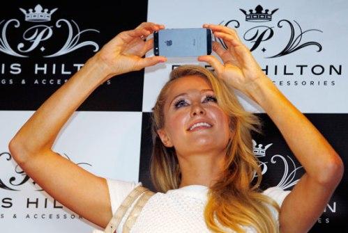 Paris Hilton y su iPhone