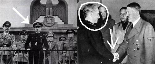 Serrano Suñer con los jerarcas nazis