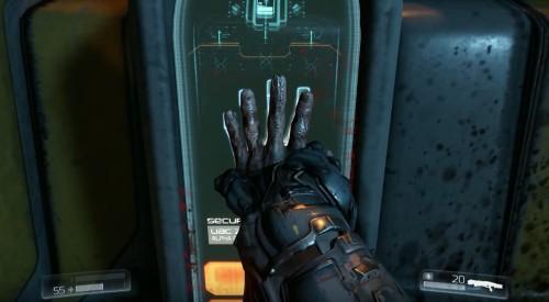 Mano cortada en el juego Doom