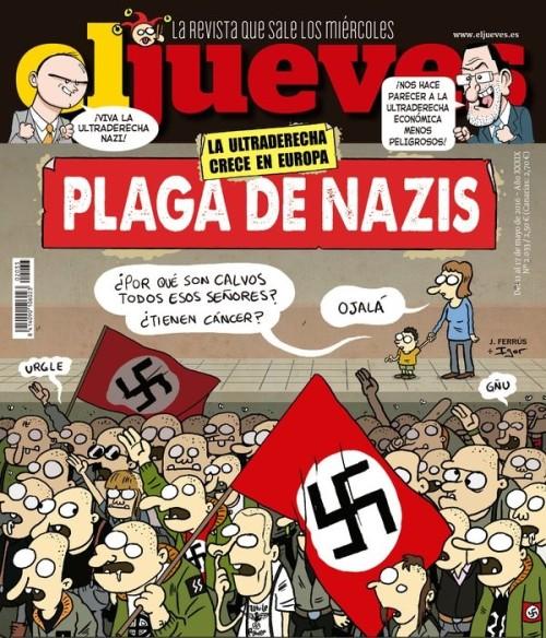 Portada de El Jueves sobre los nazis