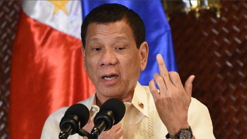 El Presidente de Filipinas Rodrigo Duterte
