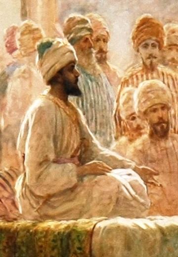 Pintura del siglo XIX de Abderramán III