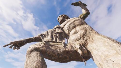 Escena subida por un gracioso de Assassin's Creed Odyssey