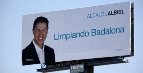 Publicidad del candidato por Cataluña del Partido Popular