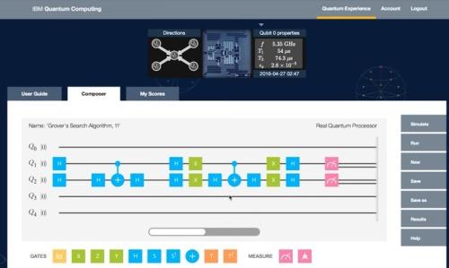 Programación visual en el computador cuántico de IBM
