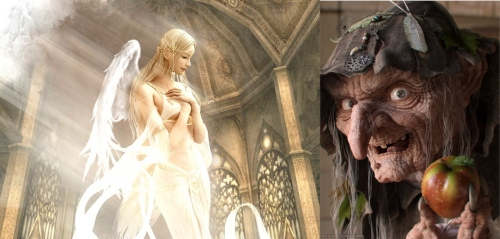 Angel y bruja