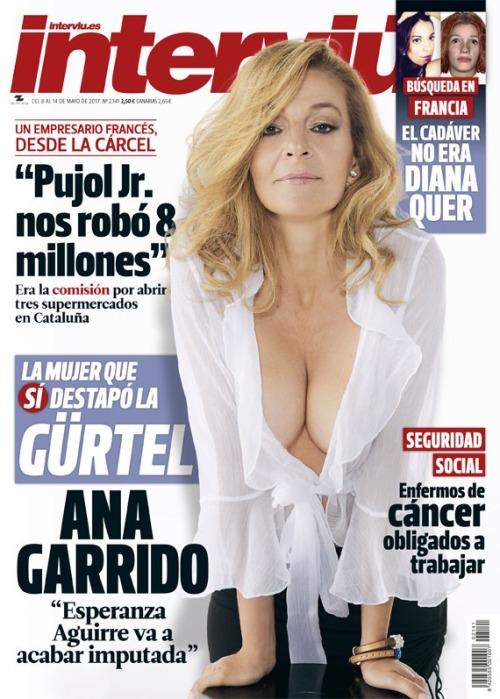 Ana Garrido en la portada de interviú de Mayo del 2017