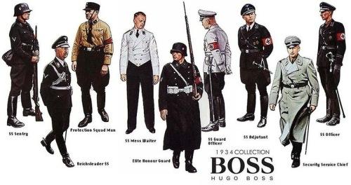 Uniformes nazis diseñados por Hugo Boss